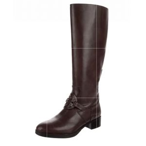 NEW Tory Burch Miller Pull On Brown Leather Boots